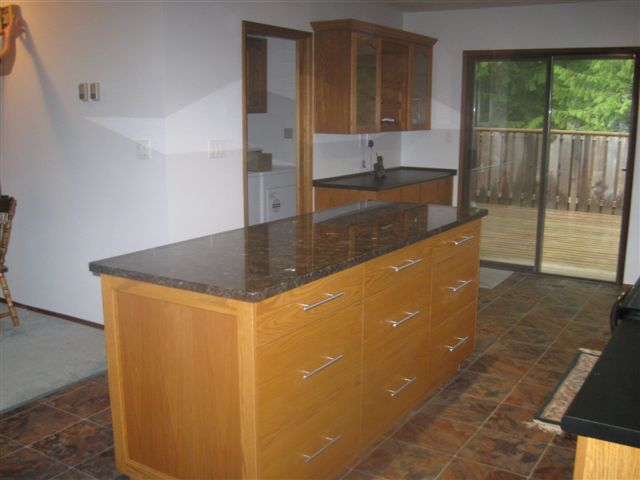 custom cabinets with natural finish